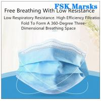 Wholesale Block Coronavirus 3 Ply Disposable Face Mask Aseptic Melt Blown Cloth Blue Mask from china suppliers