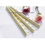 China Curved Shine Gold Aluminium Tile Edge Trim 10mm x 2.44m / 2.5m / 2.6m for sale