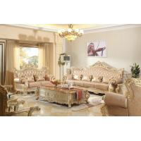 Wholesale Luxury carving Furniture European style Genuine leather Sofa in meeting room Joyful Ever from china suppliers
