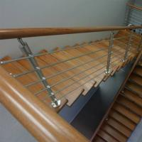 Wholesale Wood Handrail Stainless Steel Rod Railing for Staircase Design from china suppliers