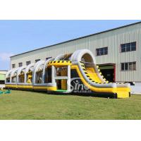 Wholesale 24m long big challenge adults inflatable obstacle course for boot camp or keeping fit made in Sino Inflatables from china suppliers