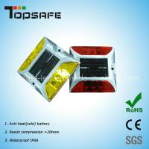 Wholesale Solar 6PCS LED Aluminium Cat Eye Reflective Road Stud (TP-SR-6) from china suppliers
