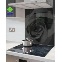 Stove High Temperature Ceramic Glass Panels , Ceramic Glass Sheet Solid Structure