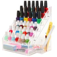 Wholesale 6 Tiers Acrylic Nail Polish Stand Shelving Customized Transparent 200Pcs from china suppliers