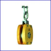 China B140 JIS Ship's Wooden Block Single Pulley With Shackle for marine for sale