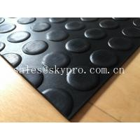 Wholesale Heavy duty non-slip 3mm coin stud mat round dot rubber sheet floor from china suppliers