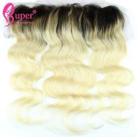 Black And Blonde Ombre Hair Extensions Restyleable Customized Texture for sale