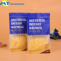 Quality Ziplock Plastic Flat Bottom Pouch With Valve Strong Sealing For Snack for sale