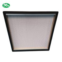 China High Efficiency HEPA Media Filter / Glass Filter With Sandwich Wooden Board Frame on sale