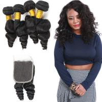 Wholesale Unprocessed Loose Curly Hair Extensions / Loose Curly Virgin Indian Hair from china suppliers