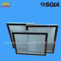 100% Monofilament Polyester Silk Screen Printing Mesh Frame for sale