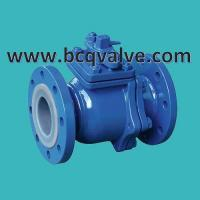 Wholesale FLANGED END 2-PC CARBON STEEL PTFE(FEP,F46) LINED BALL VALVE from china suppliers