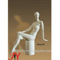 Wholesale Jolly mannequins-clothing display model sitting white color abstract head full body mannequin Alicia-5 from china suppliers