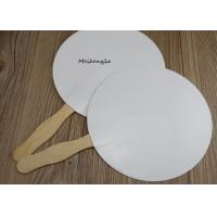 China Creative White Pp Japanese Hand Fan Folk Art Style With Erasable Surface for sale