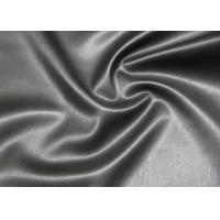 Wholesale Black Waterborne PU Synthetic Leather Suede Backing Fabric For Garment Jacket from china suppliers