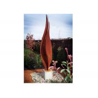 Buy cheap Flower Corten Steel Rusty Garden Sculptures For Modern Decoration from wholesalers