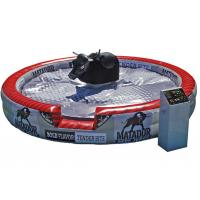 Wholesale Deluxe Inflatable Mechanical Bull , Round PVC Inflatable Mat Mechanical Rodeo Bull from china suppliers