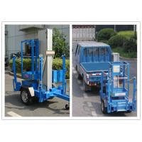 Quality Trailer Mounted One Man Lift 8 Meter Hydraulic Aluminium Alloy With 136 kg Rated Load for sale
