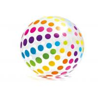 "Quality Jumbo Inflatable Beach Ball 42"" Large Diameter Crystal Clear With Translucent Dots for sale"