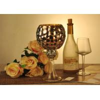 Wholesale Antique Mosaic Glass Candle Holder Electroplating Christmas Decoration from china suppliers