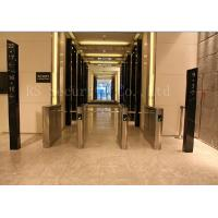 Quality Office Access Drop Arm Barrier , Biometric Construction Site Access Control Turnstiles for sale