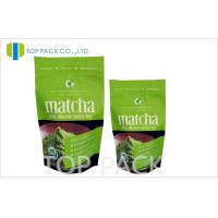 Buy cheap Matcha Tea Packaging Bags MOPP / PET / PE Stand Up Pouches With Zipper from wholesalers