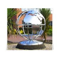 Wholesale Metal World Globe Map Stainless Steel Sculpture For Public Decoration from china suppliers