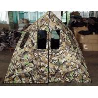 Buy cheap 84*60*64 Inch Camo Hunting Blind, 250D Polyester Hunting Tent Blinds With Black PU Coated from wholesalers
