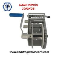 Wholesale Hand Winch 2000kg Strap/Webbing/ Rope 3speed- Boat Car Marine Trailer from china suppliers