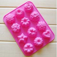 Wholesale silicone muffin cake molds , flower shape silicone tray  mold ,custom  silicone  mold from china suppliers