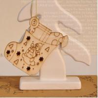 Wholesale Santa Claus wood tag Christmas gift tag wooden hanging tags from china suppliers