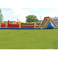 Wholesale Long Outdoor Assault Course / Inflatable Obstacle Course With Waterproof Material from china suppliers
