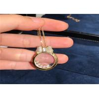 Wholesale 42cm 0.48ct 18k Rose Gold Diamonds Pendant Necklace 795020-5201 from china suppliers