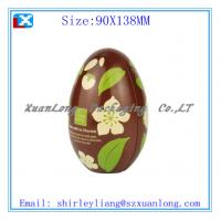 Wholesale Egg shape christmas gift tin box from china suppliers