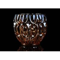 Wholesale 315ml Dimpled Shape Glass Candle Jars with Color Sprayed Electroplated Effect from china suppliers