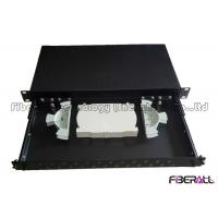 Sliding Out Rack Mounted Fiber Optic Patch Panel ST Fiber Terminal Box 24 Fibers