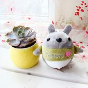China Cotton Material Mini Totoro Plush , Three Dimensional Totoro Stuffed Toy on sale