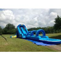 Wholesale Exciting 0.55mm PVC Tarpaulin Inflatable Double Slip And Slide With Pool from china suppliers