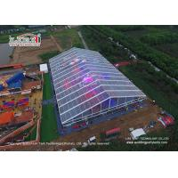 Quality 500 Guests Luxury Wedding Tents Transparent Tent With Glass Walls Lining Curtain for sale