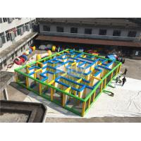 Wholesale Large Inflatable Interactive Games , Inflatable Corn Haunted House Maze With Laser Tag from china suppliers