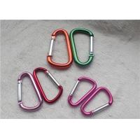 Small Personalized Promotional Gifts Carabiner Multiple Colors D - Shaped Mountaineering Buckle Metal Key Holder for sale