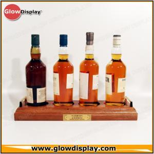 China wholesale wood classic malt whisky bottle glorifier bar display stand on sale
