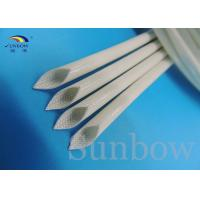 China Silicone Rubber Coated Fiberglass Sleeving , White Fiberglass Braided Sleeving on sale