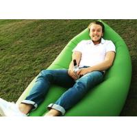 Quality 10 seconds Fast Inflatable Laybag Sleeping Bag , Outdoor Inflatable Toys Air Lounger for sale