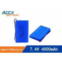 Wholesale 7.4v lithium polymer battery 4000mAh for medical device, digital product, electric products  with pcm protection from china suppliers