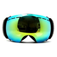 Wholesale Super Vision Double Lens Frameless Mirrored Ski Goggles Anti Fog , Outrigger Design from china suppliers