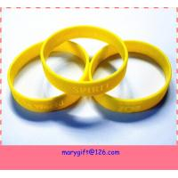 wholesale price silicone bracelet with debossed logo for sale