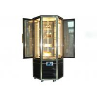 Wholesale Hexagonal Glass Door Cake Showcase Upright Rotating Cake Display Cooler 4~8℃ from china suppliers