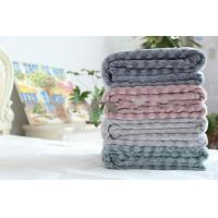 China Soft Touch 3D Embossed Flannel Fleece Blanket For Couch And Bed Throws Anti - Pilling on sale