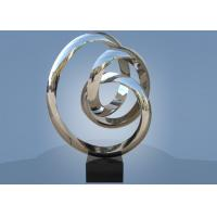 Quality Large Size Stainless Steel Sculpture Circle Around For Hotel / Public Decoration for sale